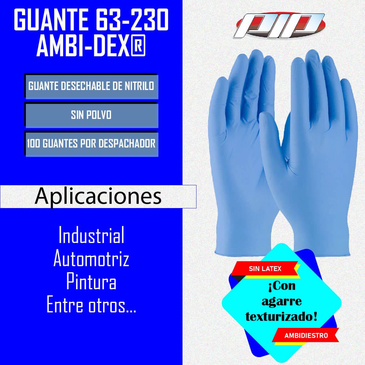 Guante desechable de nitrilo 63-230 PIP